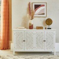 image-Samira Carved Large Sideboard White