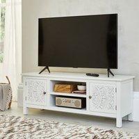 image-Samira Carved TV Stand White