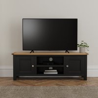 image-Bromley Black Wide TV Stand Blue