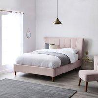 Isla Velvet Bed Frame - Blush Blush