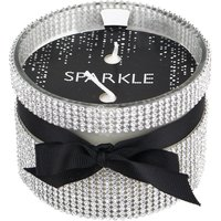 image-Sparkle Diamante Multiwick Grapefruit and Patchouli Scented Candle Silver