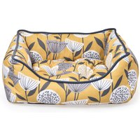 Emmott Square Dog Bed Yellow, Grey and White