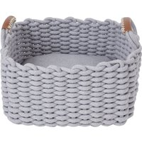 Woven Rope Cat Bed Grey