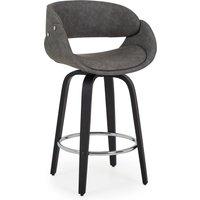 image-Torcello Bar Stool Grey PU Leather Grey