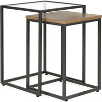image-Dillon Nest of Tables Oak (Brown)