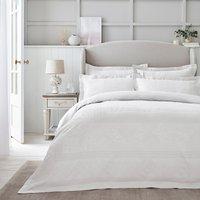 Dorma Purity Paloma 100% Cotton White Jacquard Duvet Cover White