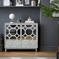 image-Delphi Mirrored Small Sideboard Grey Grey