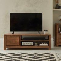 image-Harlam Wide TV Stand Oak (Brown)