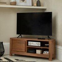 image-Harlam Corner TV Stand Oak (Brown)