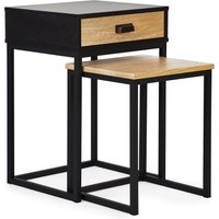 image-Greenwich Storage Nest of Tables Black