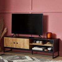 image-Greenwich Wide TV Stand Black