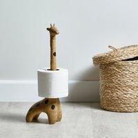 image-Giraffe Toilet Roll Holder Brown