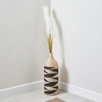 image-Large Woven Bottle Vase Natural