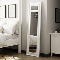 White Midi Leaner Mirror White