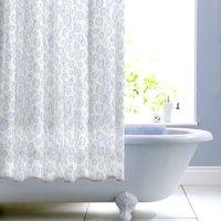 image-Bubbles Shower Curtain Blue