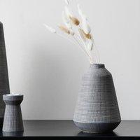 image-Small Matte Grey Ceramic Vase Grey