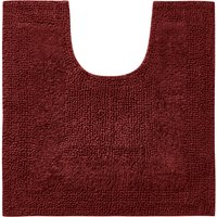 Super Soft Reversible Merlot Pedestal Mat Red