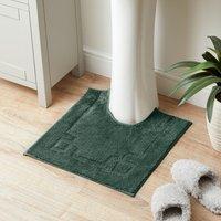 Luxury Cotton Non-Slip Forest Green Pedestal Mat Green