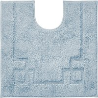 Luxury Cotton Non-Slip Sky Blue Pedestal Mat Blue