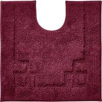 Luxury Cotton Non-Slip Merlot Pedestal Mat Red