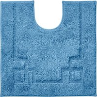 Luxury Cotton Non-Slip Cornflower Pedestal Mat Blue