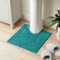 Luxury Cotton Non-Slip Teal Pedestal Mat Green