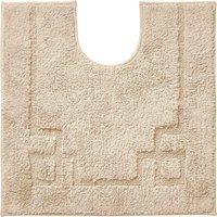 Luxury Cotton Non-Slip Sand Pedestal Mat Brown