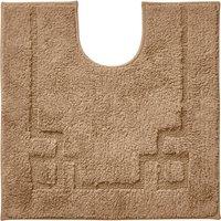 Luxury Cotton Non-Slip Walnut Pedestal Mat Brown