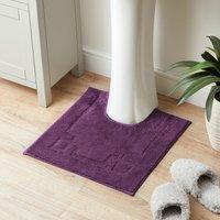 Luxury Cotton Non-Slip Grape Pedestal Mat Purple