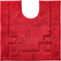 Luxury Cotton Non-Slip Red Pedestal Mat Red