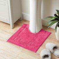 Luxury Cotton Non-Slip Fuchsia Pedestal Mat Pink
