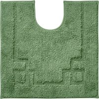 Luxury Cotton Non-Slip Woodland Pedestal Mat Green