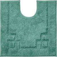 Luxury Cotton Non-Slip Kingfisher Pedestal Mat Green