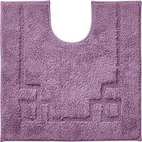 Luxury Cotton Non-Slip Lavender Pedestal Mat Purple