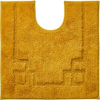 Luxury Cotton Non-Slip Mustard Pedestal Mat Yellow