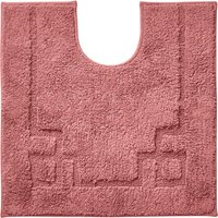 Luxury Cotton Non-Slip Rose Pedestal Mat Pink