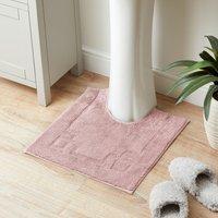 Luxury Cotton Non-Slip Blush Pedestal Mat Blush