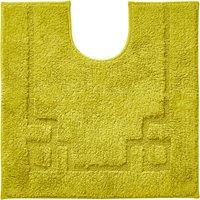 Luxury Cotton Non-Slip Lime Pedestal Mat Green