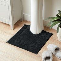 Luxury Cotton Non-Slip Black Pedestal Mat Black