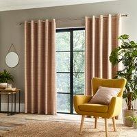 Retreat Rust Eyelet Curtains Brown