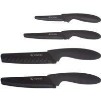 Viners Assure 4 Piece Knife Set Black