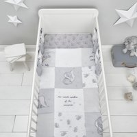 image-Dumbo 100% Cotton 4 Tog Cot Quilt Grey