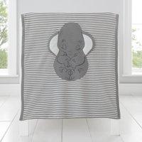 image-Dumbo Knitted Blanket Grey