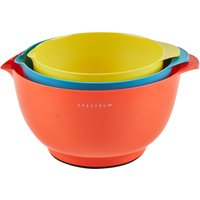 3 Piece Bright's Dunelm Mixing Bowl Red, Blue and Yellow