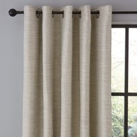 Harper Grey Eyelet Curtains Grey, Brown and White