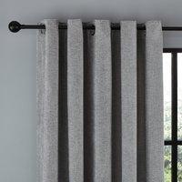 Wynter Grey Thermal Eyelet Curtains Grey