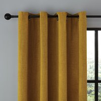 Wynter Old Gold Thermal Eyelet Curtains Gold