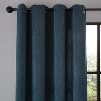 Wynter Teal Thermal Eyelet Curtains Blue