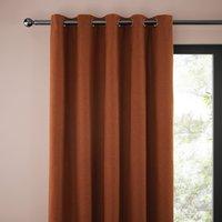 Jennings Butterscotch Pencil Pleat Curtains Brown
