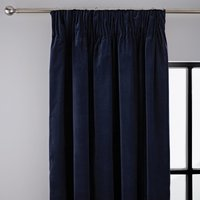 Peyton Indigo Pencil Pleat Curtains Blue